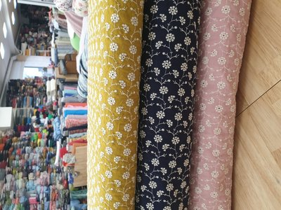 Cotton flowers embroided Y