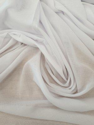 Glasgordijn wit (295cm breed) 295