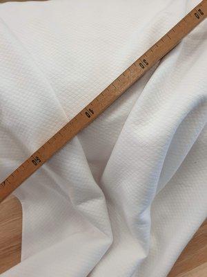Ruitjesstof wit gebreid 160