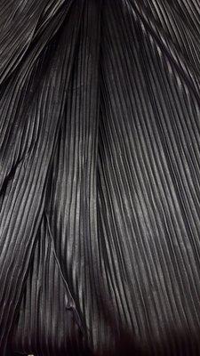 Zwarte leder brede plissé In den beer