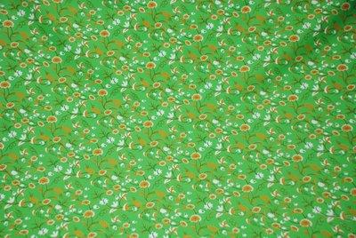 Koopjes: groen met retro bloemetjes In den beer