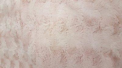 Pels - bloempatroon - Roze In den beer