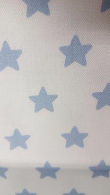 blauw/witte sterren (gamy katoen, superkwaliteit) In den beer