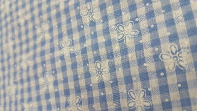 Checkered flowers Blue