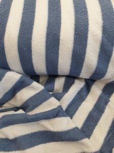 Badstof blauw gestreept (680gr) 150